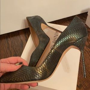 Manolo Blahnik BB 105 Iridescent Watersnake Pumps